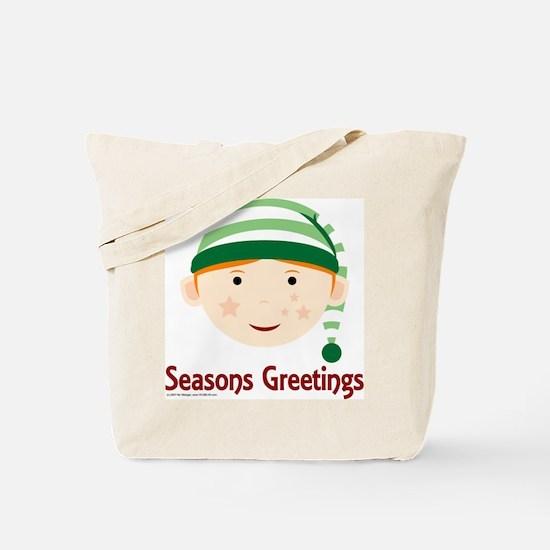 Seasons Greetings Elf Tote Bag