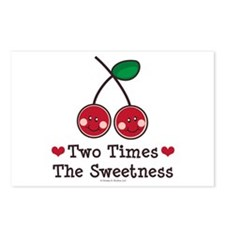Doubly Sweet Cherry Twin Postcards (Package of 8)