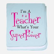 Super Teacher baby blanket