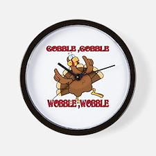 GobbleWBDance Wall Clock