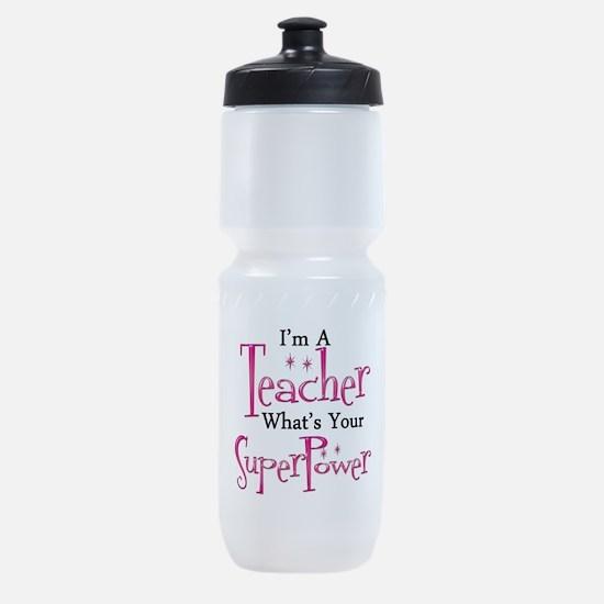 Super Teacher Sports Bottle