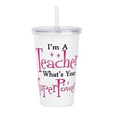 Super Teacher Acrylic Double-wall Tumbler