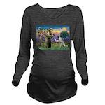 SAINT FRANCIS Long Sleeve Maternity T-Shirt