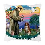 St.Francis #2/ Australian She Woven Throw Pillow