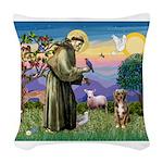 St Francis/Aussie (#5) Woven Throw Pillow