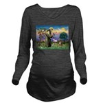 St Francis/Aussie (#5) Long Sleeve Maternity T-Shi