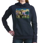 St Francis/Beagle Women's Hooded Sweatshirt