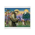 St Francis/Beagle Throw Blanket