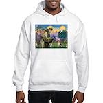 St Francis/Beagle Hooded Sweatshirt