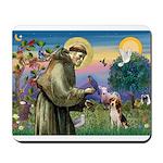 St Francis/Beagle Mousepad