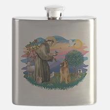 St.Francis #2/ B Tervuren Flask