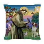 St. Fran. / Brittany Woven Throw Pillow