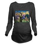 St. Francis / Bull Mastiff Long Sleeve Maternity T