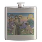 St. Francis / Bull Mastiff Flask