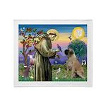 St. Francis / Bull Mastiff Throw Blanket
