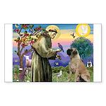 St. Francis / Bull Mastiff Sticker (Rectangle 10 p