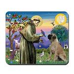 St. Francis / Bull Mastiff Mousepad