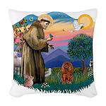 St.Fran #2/ Cavalier (r) Woven Throw Pillow