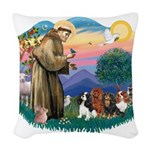 St Francis #2/ Cavaliers Woven Throw Pillow