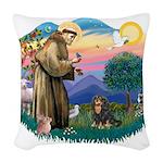 St.Francis #2/Cavalier (BT) Woven Throw Pillow