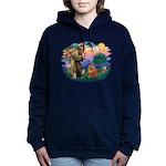 St Francis #2/ Chow (R) Women's Hooded Sweatshirt