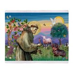 St Francis Doxie Throw Blanket