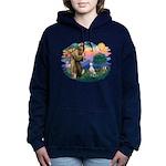 St Francis #2/ Dalmatian Women's Hooded Sweatshirt