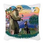 St.Francis #2/ Dobie (cropped Woven Throw Pillow