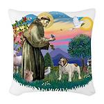 St.Fran #2/ English Bulldog Woven Throw Pillow