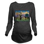 St Francis / G Shep Long Sleeve Maternity T-Shirt