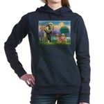 StFrancis-2Goldens.png Women's Hooded Sweatshirt