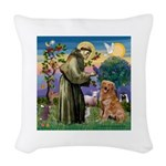 Saint Francis' Golden Woven Throw Pillow