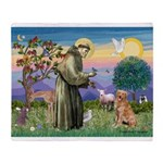Saint Francis' Golden Throw Blanket