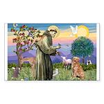 Saint Francis' Golden Sticker (Rectangle 10 pk)