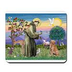 Saint Francis' Golden Mousepad