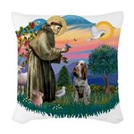 St Francis #2/ Spinone Woven Throw Pillow