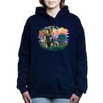 St Francis #2/ Spinone Women's Hooded Sweatshirt