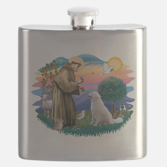 St Francis #2/ Kuvacz Flask