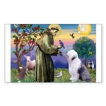 ST. FRANCIS + OES Sticker (Rectangle)