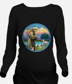 St Francis / Poodle (parti) Long Sleeve Maternity