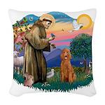 St.Fran #2/ Poodle (Std-ap) Woven Throw Pillow