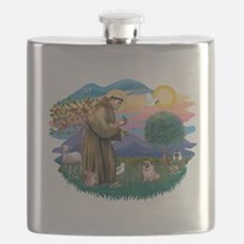 St.Francis #2/ Pug (fawn)#2 Flask