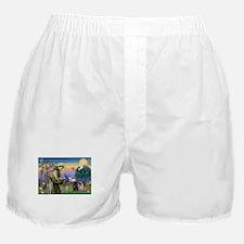 Cute Fawn pug Boxer Shorts