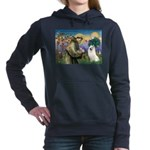 St Francis & Samoyed Women's Hooded Sweatshirt