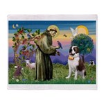 St. Francis/ St. Bernard Throw Blanket