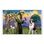 St. Francis/ St. Bernard Sticker (Rectangle 10 pk)