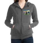 St.Francis / Mini. Schnauzer Women's Zip Hoodi