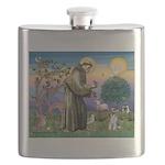 St.Francis / Mini. Schnauzer Flask