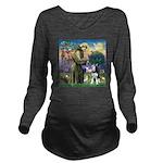 St Francis & Husky Long Sleeve Maternity T-Shirt