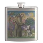 St Francis & Husky Flask